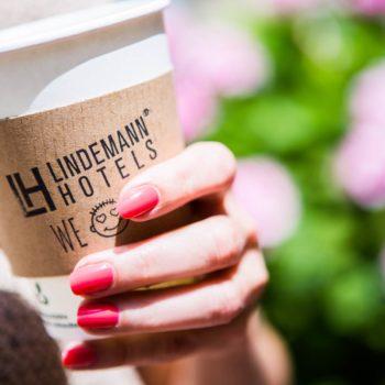 Kaffeebecher der LINDEMANN Hotels® in Berlin
